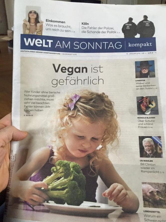 Welt am Sonntag im Vegan Wahn